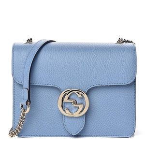 Gucci Light Blue Leather Cross Body/ Shoulder Bag